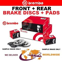 Brembo Front + Rear Discs + Pads For Bmw 5 Touring F11 525d Xdrive 2011-2017