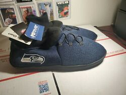 Seattle Seahawks Forever Collectibles Nfl Sneaker Slippers Adult Xl