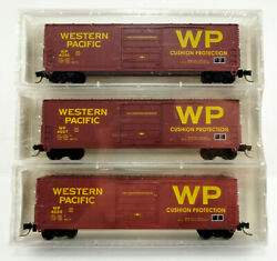 Azetc N Scale Collector's Edition Western Pacific 3 Boxcar Set
