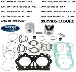 Sea Doo 947 951 Carb Listed 88 Mm Std Bore Wsm Top End Pistons Rebuild Kit