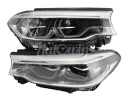 Bmw 5 Series G30 G31 Full Led Adaptive Headlight Right And Left Side Genuine New