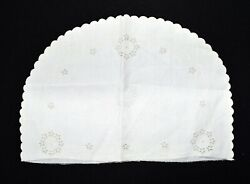 Vintage Madeira White Floral Embroidered Cutwork Toaster Cover New Old Stock