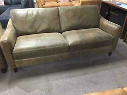 John Lewis Vintage Brown Italian Leather 3 Seater Sofa And Chair