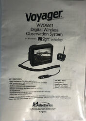 Manual Only For Voyager Wvos511 Rear Backup Digital Wireless Camera System New
