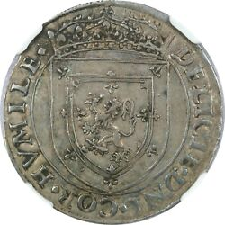 1553 Scotland Great Britain Francis And Mary Silver Betrothal Jetton Ngc Xf45