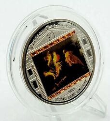 Cook Islands 2012 Masterpieces Of Art Rubens - Flight To Egypt Proof Silver Coin