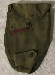 Vintage Vietnam U.s. Military Carrier Trenching Tool Shovel Cover