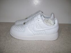 Rare New 2007 Sz 9.5 Nike Air Force 1 Low Lux 309238-111 Italy Woven Leather