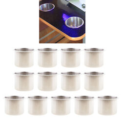 11x Stainless Steel Cup Drink Holders For Marine Boat Yacht Rv Camper Truck