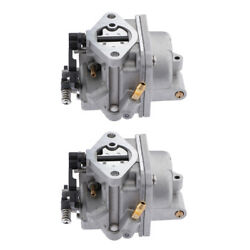 2x Carburetor For Tohatsu 4 Stroke 4t 4hp 5hp Outboard Motor 803522t2