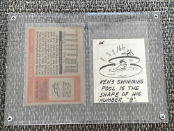 Rare One-of-a-kind 1972 Topps Ken Hodge Original Topps Sketch With Nm-mt/mt Card
