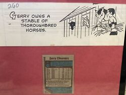 One-of-a-kind 1977 Topps Gerry Cheevers Nm-mt/mt With Certified Original Drawing