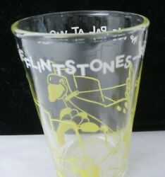 Vtg Welchand039s Jelly Drinking Glass Flintstones Fred And His Pal At Work 12556