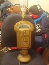 Vintage Working Duncan Miller Coin Operated Parking Meter Table Lamp