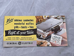 General Electric Sandwich Grill Waffle Iron Vintage Print Ad - Eb98