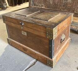 Rare Antique Amesbury Carriage Builder Tool Chest - Heavy Duty, Late 1800's