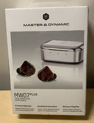 Master And Dynamic Mw07 Plus True Wireless Earphones Noise Cancelling Tortoise