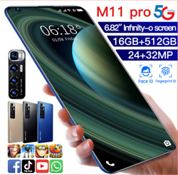 M11 Pro Tandeacutelandeacutephone Android 10.0 Smartphone 682and039and039 8g Ram 128g Double Sim 5g Lte