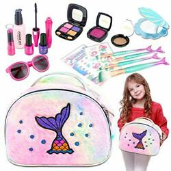 Princess Little Girls Makeup Kit For Kids Toddler Cosmetic Set Pretend Play Toy $26.78