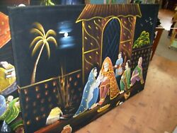 5 Large India Indian Restaurant Velvet Paintings - Pittsburgh Pickup Only