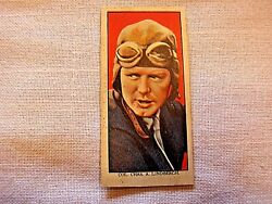 Rare Charles Lindbergh Trading Card From Mars Candy Company- English Issue