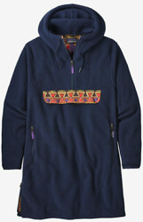 Synchilla Cagoule New Navy Blue Aztec Red Anorak Fleece Pullover - M