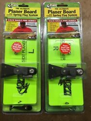 Opti Tackle Planer Board Two Pack Large Left And Right With Spring Flag System