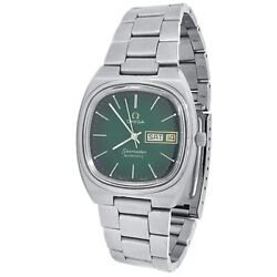 Omega Vintage Seamaster Stainless Steel Automatic Green Menand039s Watch 366.0845