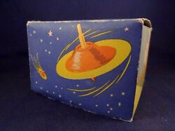 Vintage Toy Game Space Spinning Top Boxed The Bolide Disc 50's Flying Saucer
