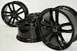 20 Audi Rs5 S5 A5 A8 S8 A7 S8 5 Spoke Rotor Wheels Rims Black Factory Oem
