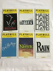 6 Pantages Theater Playbill From 2011 Season