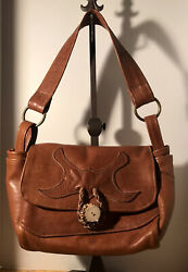 Handmade Leather Flap Front Satchel For Guys Or Gals Beautiful amp; Bold $10.00