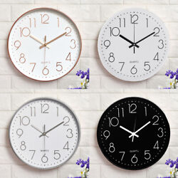12quot; 3D Modern Wall Clock Silent Non Ticking Quartz Battery Operated Round Home