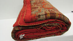3480 Etro Italy Andldquohome Collectionandrdquo King Size Comforter / Red Paisley / Oriental