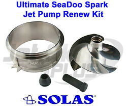 Ultimate Seadoo Spark Jet Pump Renew Kit Stainless Wear Ring And Impeller W/ Tool