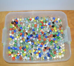 Vintage Glass Marbles Lot Of 509 1950s-1970s Retro Toys