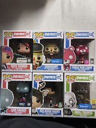 Fortnite Funko Pop Bundle Includes 6 Exclusives 427429430432437and438 Damage