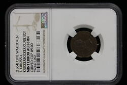 1864 United States. Token. Knickerbocker Currency Ngc Au-58 Bn. Curved Clip.