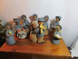 Rare Metlox Poppytrail Poppetts Salvation Army Band 8 Pieces All Named