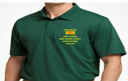 Army Security Agency Group Vietnam Veteranembroidered Poloshirt/sweat/jacket.
