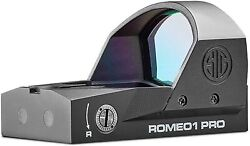 Sig Sauer Romeo1pro 1x30mm Red Dot Sight 3 Moa Dot Reticle Black Sor1p100