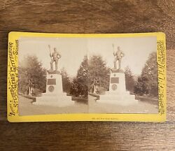 Scarce Tipton Stereoview 4th New York Battery Smith's Monument Gettysburg.
