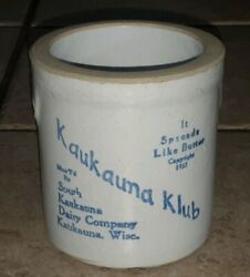 Antique South Kaukauna Dairy Company Butter Spread Crock Wisc. Wisconsin Old