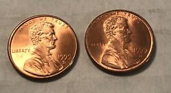 1999-d 1 Penny Copper Plated Zinc Close Am, Very Rare Us-seller -set Of Two
