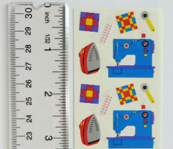 Mrs Grossman Quilting Sewing - Half Strip Of Vintage 1996 Retired Stickers