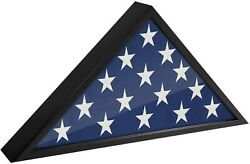 Usa American Us Folded Memorial Flag Triangle Display Case Box Burial Casket L
