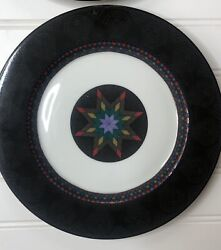 Dansk Portugal Amish Shadow Star Quiltings 9 Inch Salad Plates Set Of 4