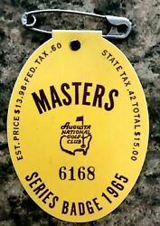 1965 Used Masters Golf Badgecollectors Itemrare Ticketjack Nicklauslow