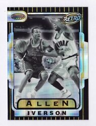 Allen Iverson Rookie Atomic Refractor 1996-97 Bowmanand039s Best Retro Tb13 Rc 76ers