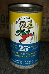 Buckeye Chapter Toledo Ohio Beer Can 25th Collectors Show Souvenir Can 1999 Old
